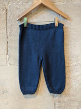 Load image into Gallery viewer, Wonderful Hand Knitted French Navy Trouser - 12 Months