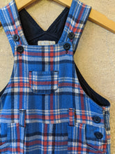 Load image into Gallery viewer, Bright Tartan Warm Cotton Dungarees - 12 Months