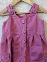 Load image into Gallery viewer, Perfectly Pink Petit Bateau Cotton Dungarees - 12 Months