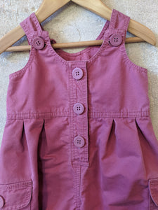 Perfectly Pink Petit Bateau Cotton Dungarees - 12 Months