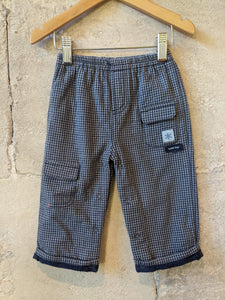 Gorgeous French Checked Comfy Bottoms - 12 Months