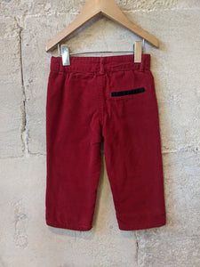 Lovely French Red Cords with Animal Button - 12 Months