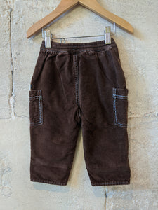 Sweet French Hedgehog Chocolate Brown Cords - 12 Months