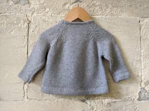 Beautiful Petit Bateau Knitted French Grey Whale Riding Jumper - 6 Months