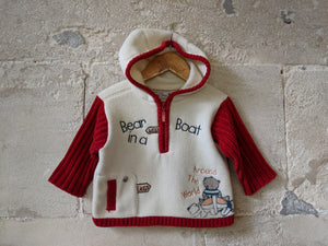 Super Snuggly Bear Hooded Fleece - 6 Months