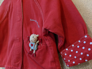 Soft Sucre d'Orge Cardigan with Little Pocket Friend - 12 Months