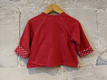 Load image into Gallery viewer, Soft Sucre d'Orge Cardigan with Little Pocket Friend - 12 Months