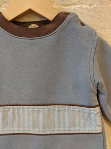 Dusky Blue French Vintage Sweatshirt - 12 Months