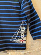 Load image into Gallery viewer, Breton Designer Weekend à La Mer Soft Striped Sailing Top - 12 Months