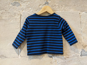 Breton Designer Weekend à La Mer Soft Striped Sailing Top - 12 Months