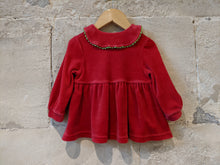 Load image into Gallery viewer, Beautiful French Floaty Velvet Jacket with Peter Pan Collar - 12 Months