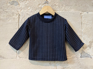 Super Cool French Vintage Checked Sweatshirt - 12 Months