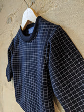 Load image into Gallery viewer, Super Cool French Vintage Checked Sweatshirt - 12 Months