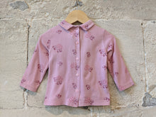 Load image into Gallery viewer, Sweet Petit Bateau Long Sleeved Top with Collar - 12 Months