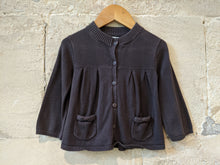 Load image into Gallery viewer, Lovely French Grey Cardigan with Pretty Pockets - 12 Months