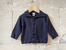 Load image into Gallery viewer, Petit Bateau Thick Cotton Knit Cardigan - 12 Months