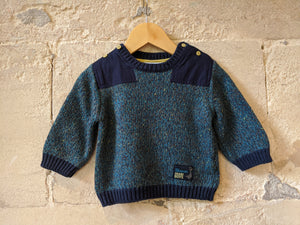 Gorgeous Coloured Knitted Jumper - 12 Months