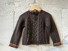 Load image into Gallery viewer, Soft Chocolate Brown Cable Knit Jumper - 12 Months