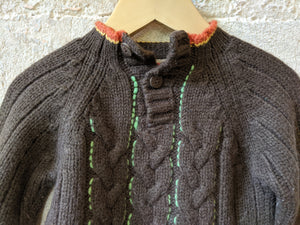 Soft Chocolate Brown Cable Knit Jumper - 12 Months