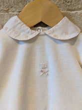 Load image into Gallery viewer, Petit Bateau Soft White Vintage Babygrow with Pretty Peter Pan Collar - 6 Months
