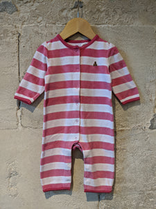 Bright Striped Soft & Cosy Romper - 6 Months