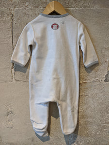 Gorgeous Snowy Bears Soft French Babygrow - 6 Months