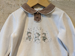 Pretty Peter Pan Collared French Skating Babygrow - 18 Months