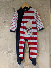 Load image into Gallery viewer, Super Striped Soft Teddy Bear Babygrow - 18 Months