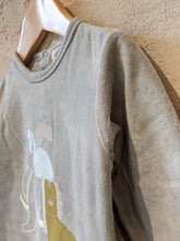 Load image into Gallery viewer, Olive Green Soft French African Animals Babygrow - 18 Months