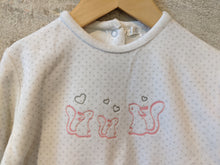 Load image into Gallery viewer, Super Squirrel Soft Polk-a-dot French Babygrow - 18 Months
