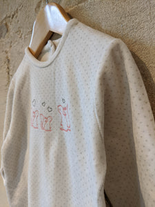 Super Squirrel Soft Polk-a-dot French Babygrow - 18 Months