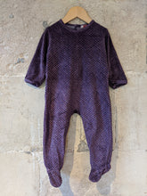 Load image into Gallery viewer, Beautiful Soft Amethyst Polk-a-dot Babygrow - 18 Months