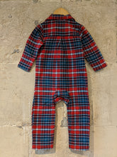 Load image into Gallery viewer, Soft Brushed Cotton Plaid PJ/Sleepsuit - 12 Months