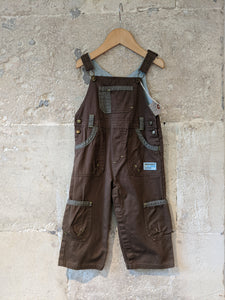 Super French Chocolate Cotton Dungarees - 18 Months
