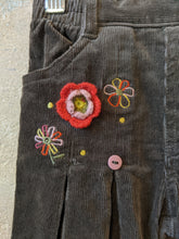 Load image into Gallery viewer, Gorgeous Corduroy Flares with Crocheted Flowers - 18 Months