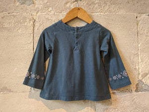 Floaty French Teal A-Line Tunic - 18 Months