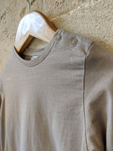 Load image into Gallery viewer, Classic Taupe Long Sleeved Cotton Top - 18 Months