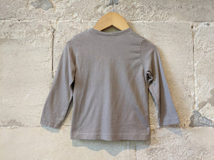 Classic Taupe Long Sleeved Cotton Top - 18 Months