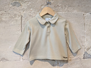 Galeries Lafayette Soft, Warm, Pastel with Peter Pan Collar  - 18 Months