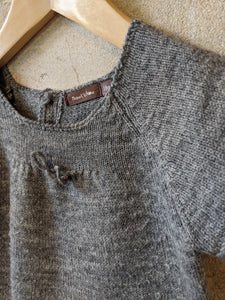 French Grey Bout'Chou Wool Blend Tunic - 18 Months