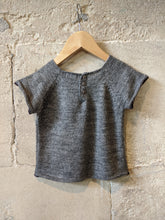 Load image into Gallery viewer, French Grey Bout'Chou Wool Blend Tunic - 18 Months
