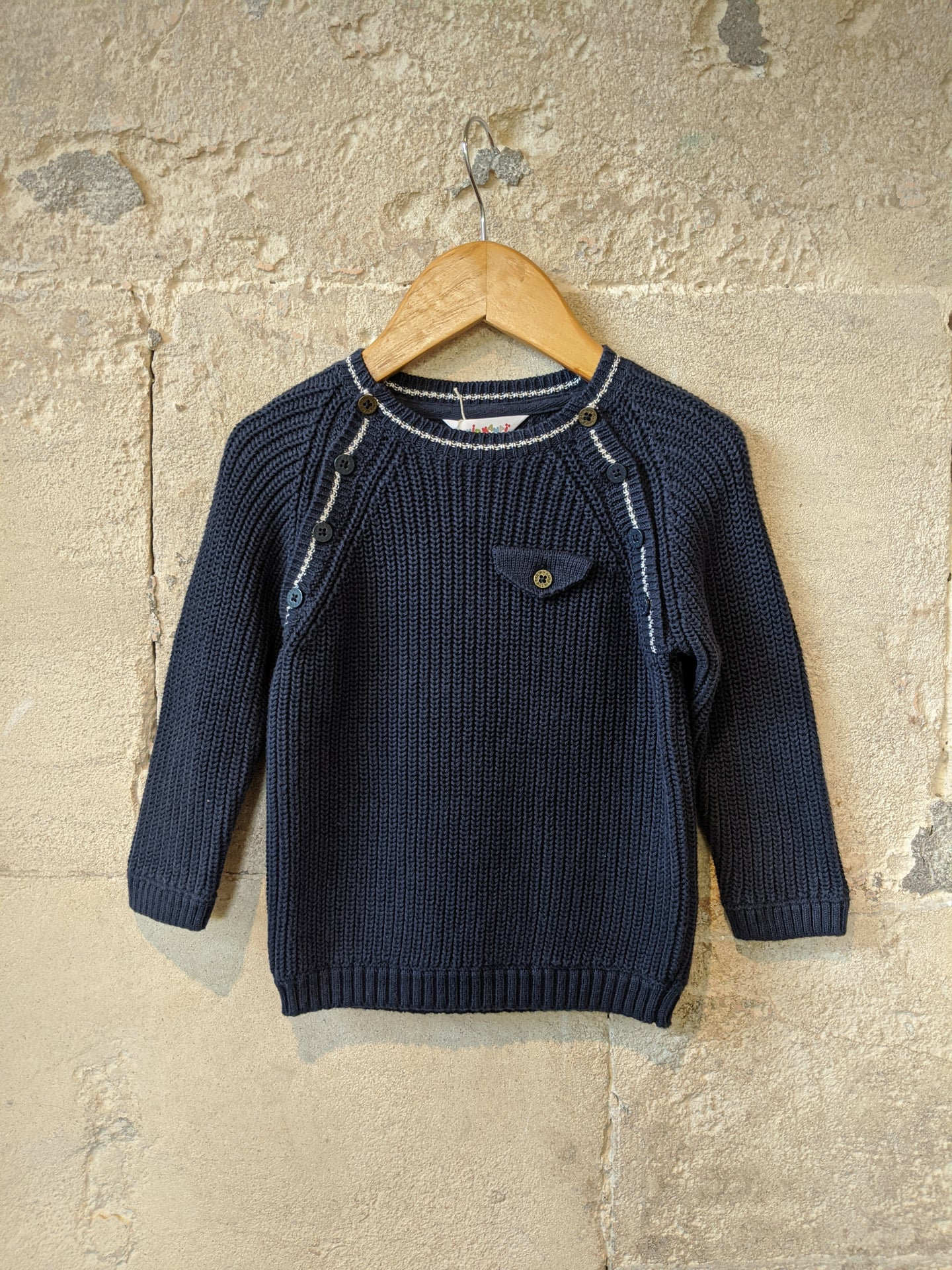 Classic French Navy Cotton Jumper - 18 Months