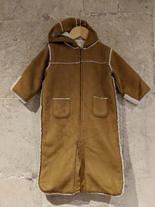 Gorgeously Soft Sherpa Lined Suede Snowsuit - 6 Months