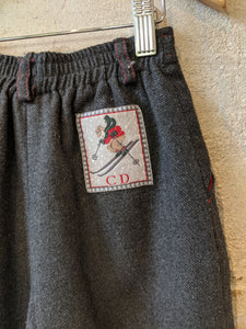 Baby Dior French Grey Wool Blend Vintage Trousers - 2 Years