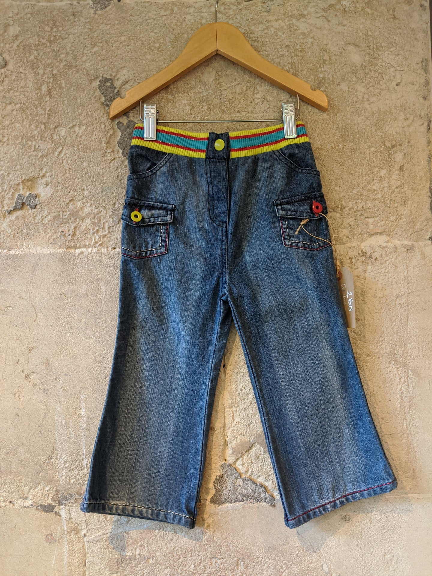 Sparkle and Stripes - Fab French Jeans - 2 Years