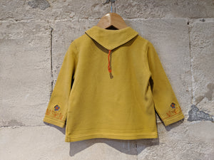 Beautiful French Vintage Mustard Blouse - 2 Years