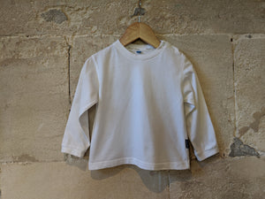 Bout'Chou Bright White Soft Cotton Top - 2 Years