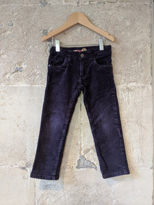 French Indigo Corduroy Trousers - 3 Years