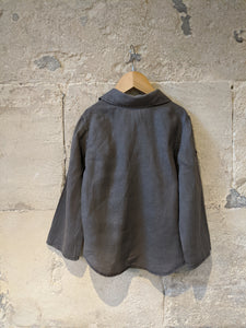 Lovely Grey Linen Shirt - 4 Years