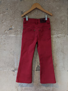 French Red Bootcut Jeans - 4 Years